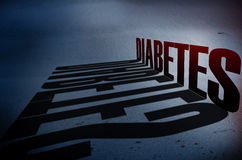 Concetto di consapevolezza del diabete Fotografie Stock Libere da Diritti