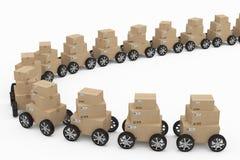 Concetto di consegna e di trasporto Fotografia Stock Libera da Diritti