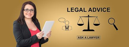 Concetto di consiglio legale immagine stock