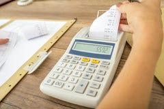 Concetto di contabilità e di imposta immagini stock