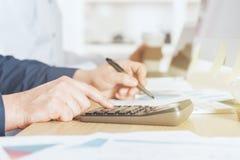 Concetto di contabilità e di finanze Fotografia Stock