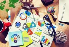 Concetto di contabilità finanziario di scambio di economia di affari di finanza fotografia stock