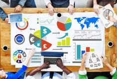Concetto di contabilità finanziario di scambio di economia di affari di finanza Fotografie Stock Libere da Diritti