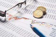 Concetto di contabilità o finanziario immagini stock libere da diritti