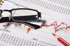 Concetto di contabilità o finanziario Fotografia Stock