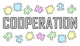 Concetto di cooperazione illustrazione vettoriale