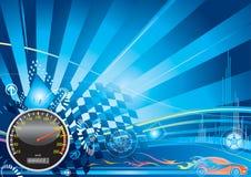 Concetto di corsa di automobile Fotografia Stock Libera da Diritti