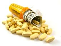 Concetto di costo del farmaco Fotografia Stock Libera da Diritti