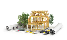 Concetto di costruzione Fotografia Stock