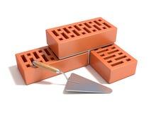 Concetto di costruzione del muro di mattoni illustrazione di stock