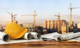 Concetto di costruzione e di progettazione Fotografia Stock