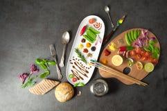 Concetto di creatività dell'alimento immagini stock libere da diritti