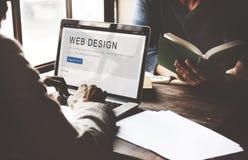 Concetto di creatività della disposizione del homepage di progettazione del sito Web fotografie stock