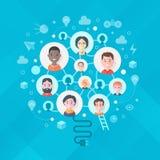 Concetto di creatività ed idee di generazione in gruppo royalty illustrazione gratis