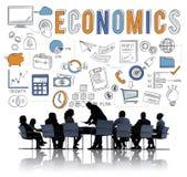 Concetto di credito dei soldi di risparmio di economia di finanza immagini stock