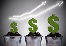 Concetto di crescita del grafico di affari Immagini Stock Libere da Diritti