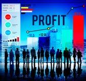 Concetto di crescita di proventi finanziari del beneficio di profitto Fotografie Stock Libere da Diritti