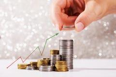 Concetto di crescita di soldi fotografia stock