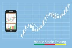 Concetto di crescita inforgraphic del mercato azionario di commercio Fotografie Stock Libere da Diritti