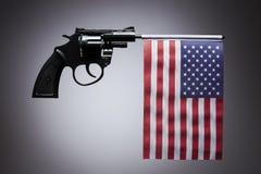 Concetto di crimine della pistola della pistola della mano Fotografie Stock Libere da Diritti