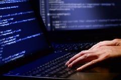 Concetto di crimine informatico Fotografia Stock Libera da Diritti