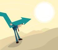 Concetto di crisi, di recessione e di inflazione Immagini Stock Libere da Diritti
