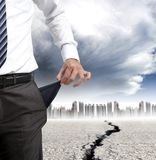 Concetto di crisi finanziaria Immagine Stock Libera da Diritti