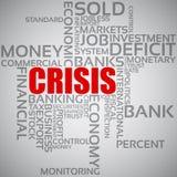 Concetto di crisi finanziaria Fotografia Stock