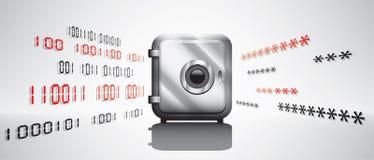 Concetto di crittografia di dati Fotografia Stock Libera da Diritti