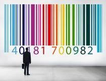 Concetto di crittografia di dati di vendita di identità di codice a barre fotografia stock