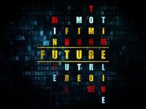 Concetto di cronologia: futuro di parola nella soluzione delle parole incrociate Fotografia Stock
