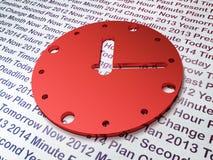 Concetto di cronologia:  Orologio sul fondo di tempo Fotografie Stock Libere da Diritti