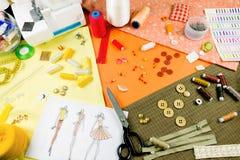 Concetto di cucito dressmaker fotografie stock libere da diritti