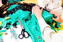 Concetto di cucito dressmaker immagini stock libere da diritti