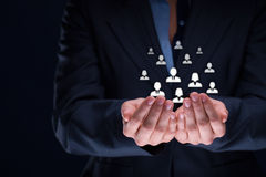 Concetto di cura degli impiegati o del cliente Immagini Stock Libere da Diritti