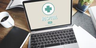 Concetto di cura della medicina dell'istituzione sanitaria della clinica dell'ospedale Fotografia Stock