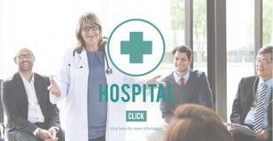 Concetto di cura della medicina dell'istituzione sanitaria della clinica dell'ospedale Fotografia Stock Libera da Diritti