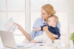 Concetto di cura di amore di maternità di Parenting del bambino e della madre Fotografia Stock Libera da Diritti