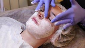 Concetto di cura di pelle stock footage