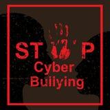 Concetto di cyberbullismo di arresto royalty illustrazione gratis