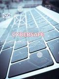 Concetto di CYBERSAFE, di affari di Digital e di tecnologia Fotografia Stock