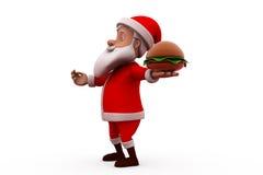 concetto di 3d il Babbo Natale Fotografie Stock Libere da Diritti