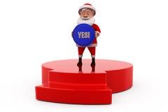 concetto di 3d il Babbo Natale sì Fotografie Stock