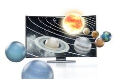 concetto di 3d TV Immagini Stock Libere da Diritti