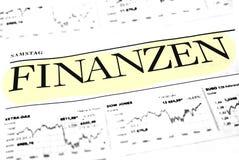 Concetto di dati di finanza fotografia stock