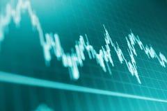 Concetto di dati di gestione di finanza Dati sullo schermo di computer in tensione Fotografie Stock Libere da Diritti