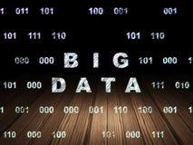 Concetto di dati: Grandi dati nella stanza scura di lerciume Fotografia Stock Libera da Diritti