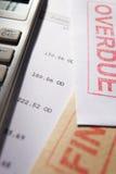 Concetto di debito Fotografie Stock Libere da Diritti