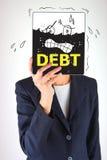 Concetto di debito Immagine Stock