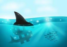 Concetto di debito e dell'usuraio Fotografia Stock